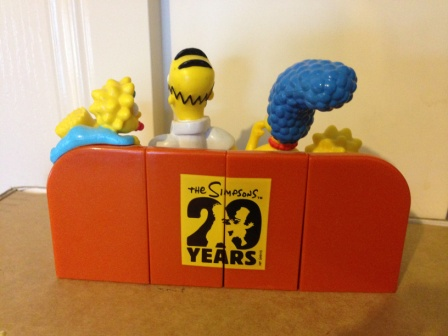 The Simpsons Hungry Jack's couch toy back