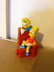 The Simpsons Hungry Jack's couch toy Bart Maggie