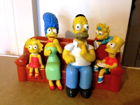 The Simpsons Hungry Jack's couch toy