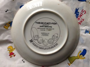 Simpsons Franklin Mint plate Fish back
