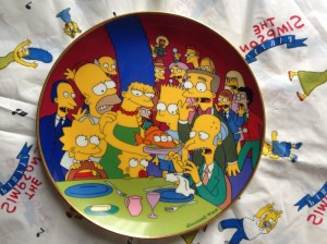Simpsons Franklin Mint plate Three Eyed Fish