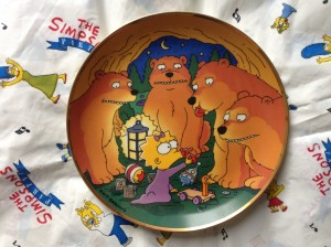 Simpsons Franklin Mint plate Maggie and the Bears